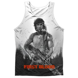 Rambo:First Blood Poster Adult 100% Poly Tank Top