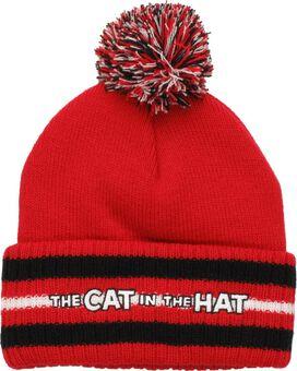 Dr Seuss Cat Hat Striped Cuff Pom Beanie