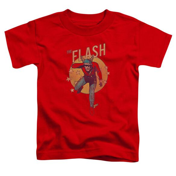 Dc Circle & Stars Short Sleeve Toddler Tee Red T-Shirt