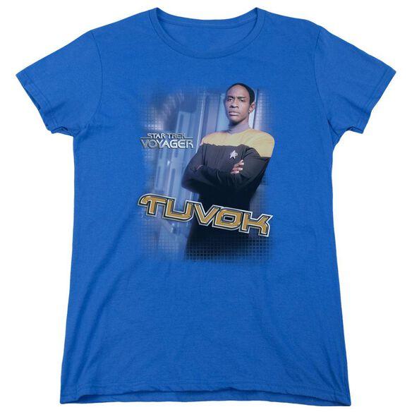 Star Trek Tuvok Short Sleeve Womens Tee Royal T-Shirt