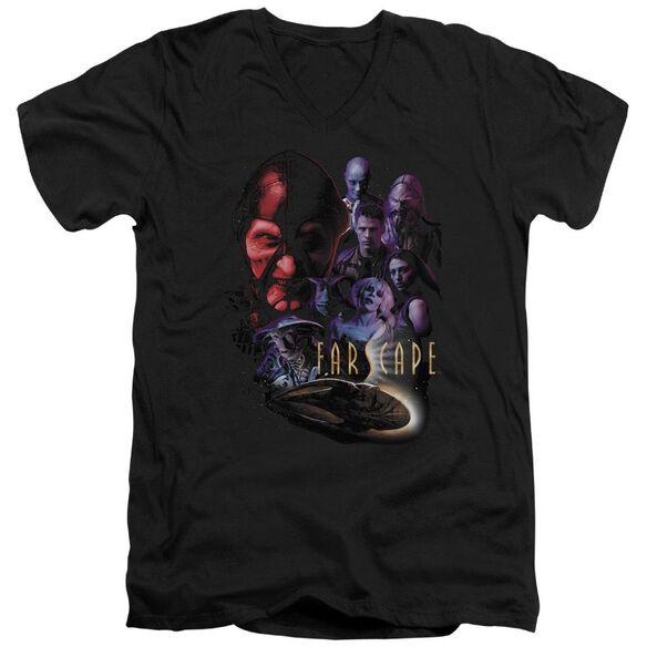 FARSCAPE CRIMINALLY EPIC - S/S ADULT V-NECK - BLACK T-Shirt