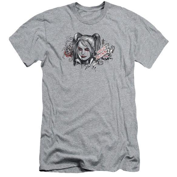 Batman Arkham Knight Hq Sketch Short Sleeve Adult Athletic T-Shirt