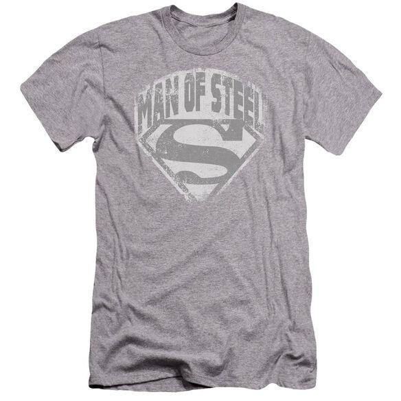 Superman Man Of Steel Shield Premuim Canvas Adult Slim Fit Athletic