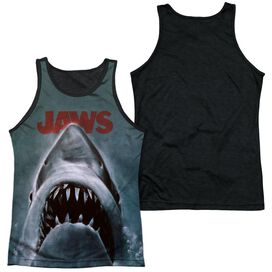 Jaws Poster Adult Poly Tank Top Black Back