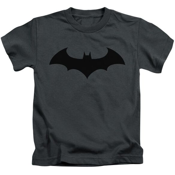 Batman Hush Logo Short Sleeve Juvenile Charcoal Md T-Shirt