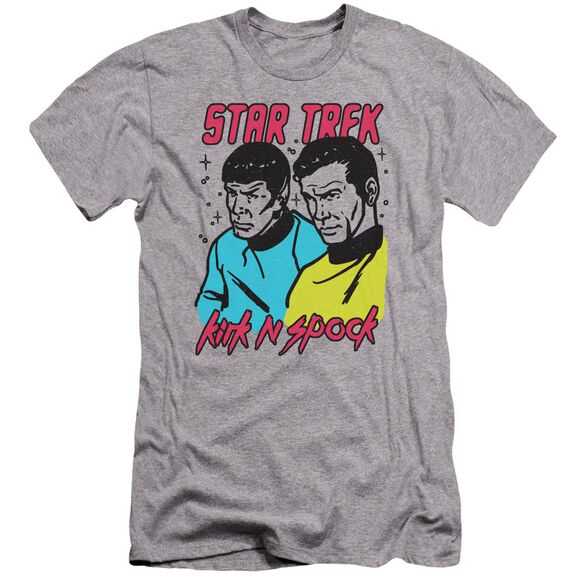 Star Trek Kirk N Spock Premuim Canvas Adult Slim Fit Athletic