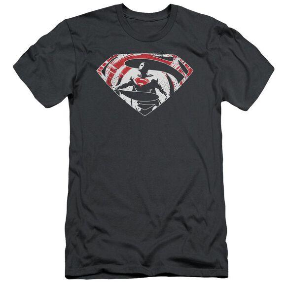 Batman V Superman Super Splatter Logo Short Sleeve Adult T-Shirt