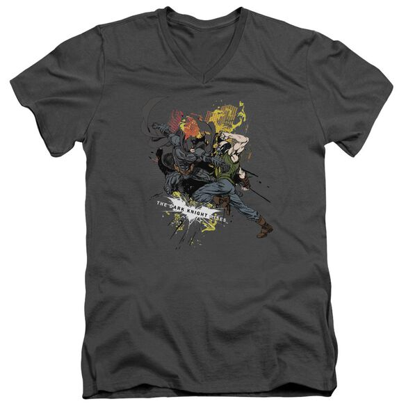 Dark Knight Rises Fight For Gotham Short Sleeve Adult V Neck T-Shirt