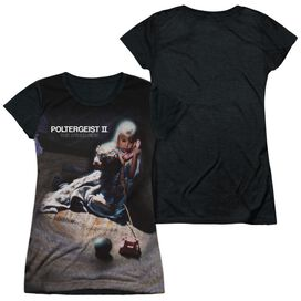 Poltergeist Ii Poster Short Sleeve Junior Poly Black Back T-Shirt