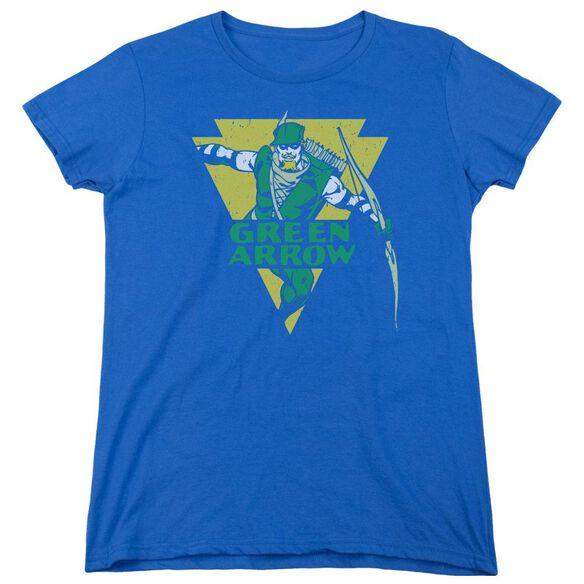 Dc Distressed Arrow Short Sleeve Womens Tee Royal T-Shirt