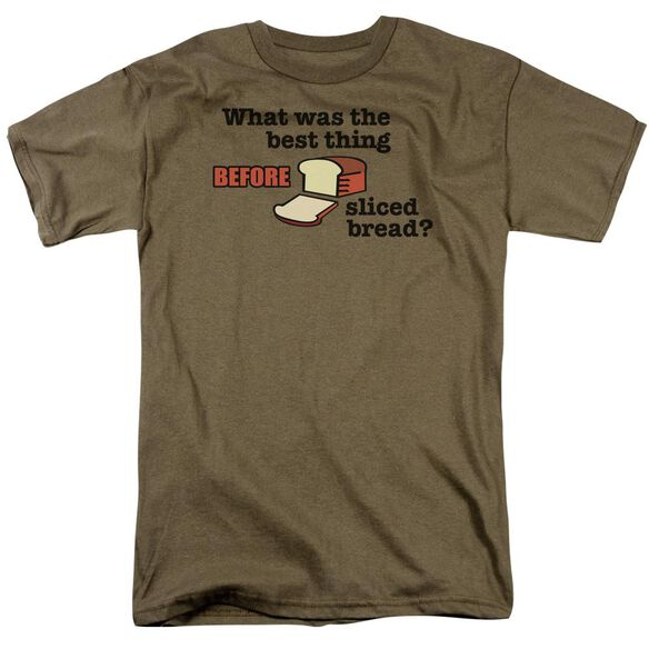 Sliced Bread Short Sleeve Adult Safari Green T-Shirt