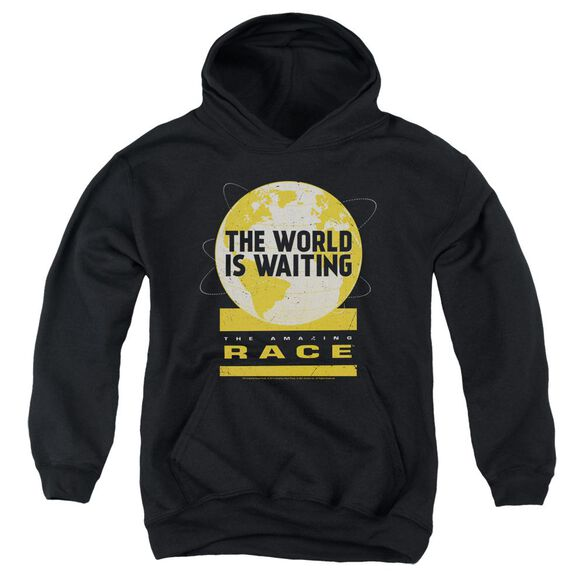 Amazing Race Waiting World Youth Pull Over Hoodie