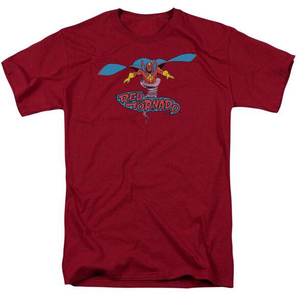 Dc Red Tornado Short Sleeve Adult Cardinal T-Shirt