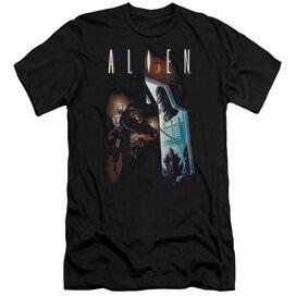 Alien Around The Corner-premuim Canvas Adult Slim