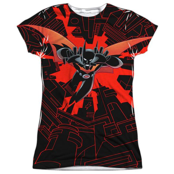 Batman Beyond Drop Down Short Sleeve Junior Poly Crew T-Shirt