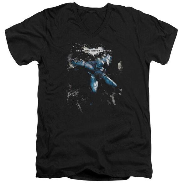 Dark Knight Rises What Gotham Needs Short Sleeve Adult V Neck T-Shirt