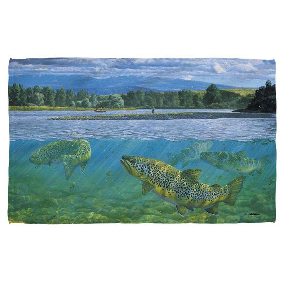 Wild Wings Bighorn River 2 Hand/Golf Towel (16x24)