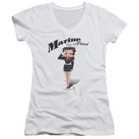 Betty Boop Marine Boop Junior V Neck T-Shirt