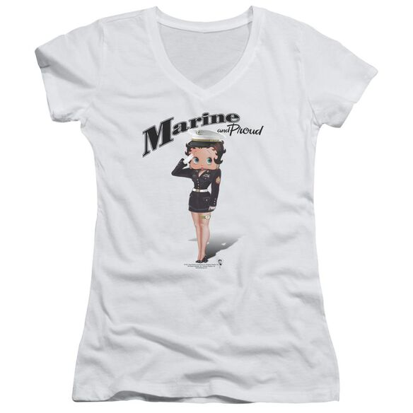 Betty Boop Marine Boop Junior V Neck T-Shirt