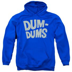 Dum Dums Distressed Logo Adult Pull Over Hoodie Royal