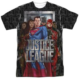 Justice League Movie The League Short Sleeve Adult Poly Crew T-Shirt