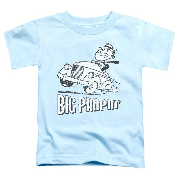 Big Pimpin' Short Sleeve Toddler Tee Light Blue Md T-Shirt