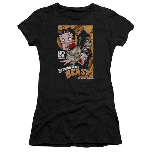 Betty Boop Boyfriend The Beast Short Sleeve Junior Sheer T-Shirt