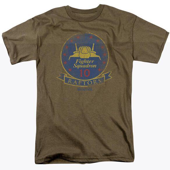 BSG RAPTOR BADGE - S/S ADULT 18/1 - SAFARI GREEN T-Shirt
