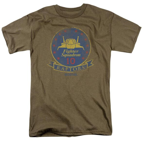 Bsg Raptor Badge Short Sleeve Adult Safari Green T-Shirt