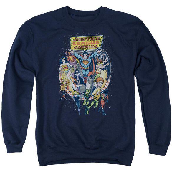 Jla Star Group Adult Crewneck Sweatshirt