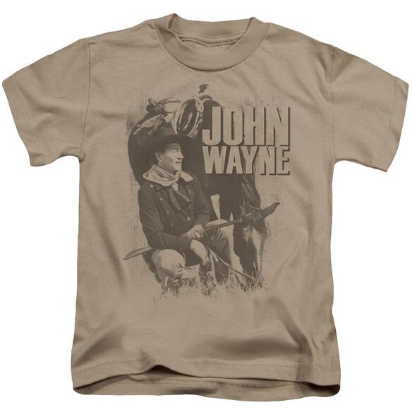 John Wayne In The West Short Sleeve Juvenile Sand T-Shirt