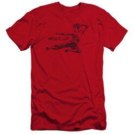 Bruce Lee Line Kick-premuim Canvas Adult Slim
