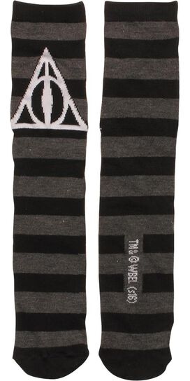 Harry Potter Deathly Hallows Crew Socks