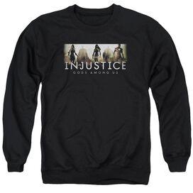 Injustice Gods Among Us Logo Adult Crewneck Sweatshirt