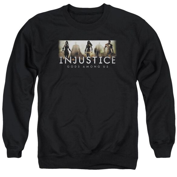 Injustice Gods Among Us Logo Adult Crewneck Sweatshirt