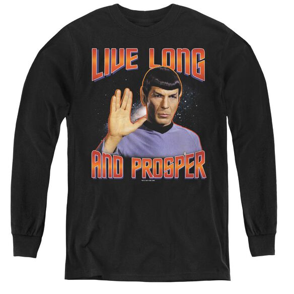 St Original Live Long And Prosper - Youth Long Sleeve Tee - Black