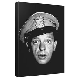 Andy Griffith Show Barney Head Canvas Wall Art With Back Board