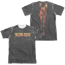 Falling Skies Harness (Front Back Print) Adult Poly Cotton Short Sleeve Tee T-Shirt
