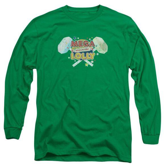 Smarties Mega Lolly Long Sleeve Adult Kelly T-Shirt