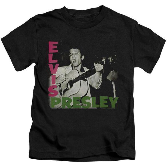 Elvis Elvis Presley Album Short Sleeve Juvenile Black Md T-Shirt