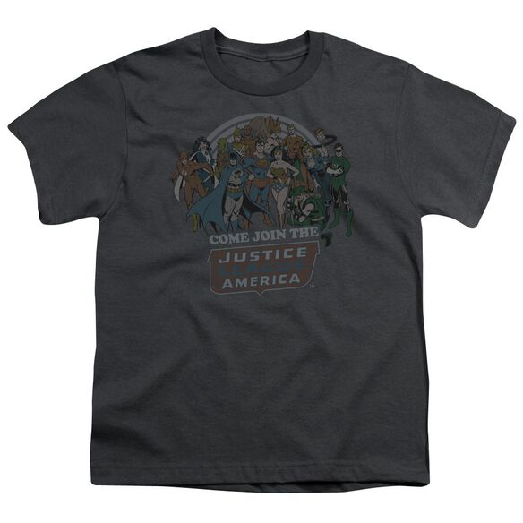 Dc Join The Justice League Short Sleeve Youth T-Shirt