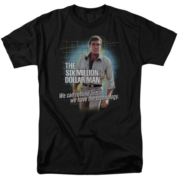 Six Million Dollar Man Technology Short Sleeve Adult T-Shirt