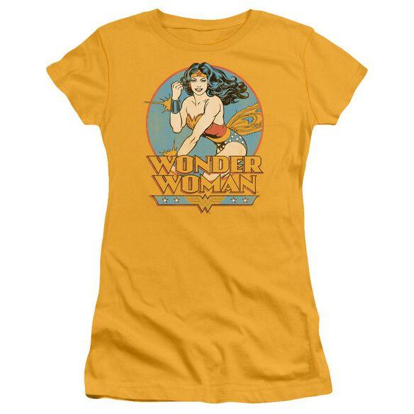 Dc Wonder Woman Short Sleeve Junior Sheer T-Shirt