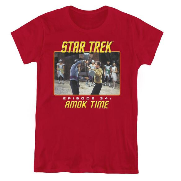 ST ORIGINAL AMOK TIME - S/S WOMENS TEE - CARDINAL T-Shirt