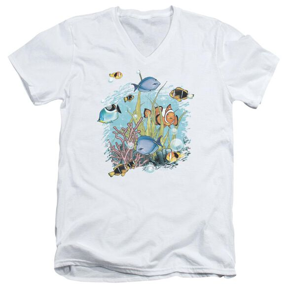 Wildlife Tropical Fish Short Sleeve Adult V Neck T-Shirt