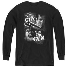 Army Of Darkness Guy With The Gun - Youth Long Sleeve Tee - Black