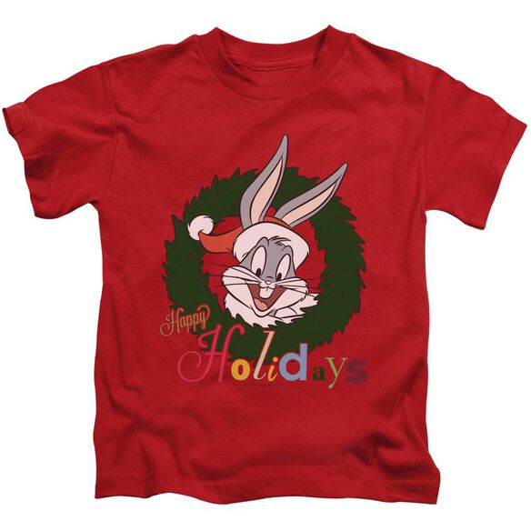 Looney Tunes Holiday Bunny Short Sleeve Juvenile Red T-Shirt