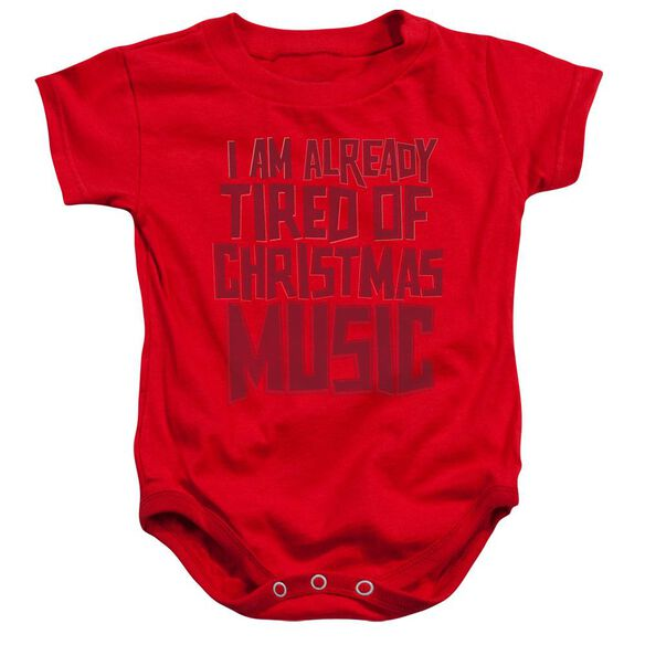 Tired Tunes Infant Snapsuit Red Xl