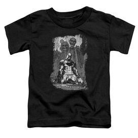 Batman Sketchy Shadows Short Sleeve Toddler Tee Black T-Shirt