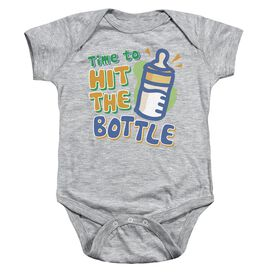 Hit The Bottle Infant Snapsuit Athletic Heather Lg